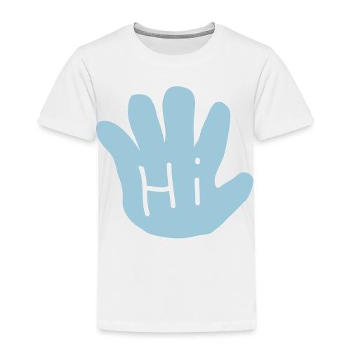 Baby Blue Hand Print Toddler Tee - Toddler Premium T-Shirt