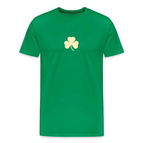 simple clover - ivory on green - Men's Premium T-Shirt