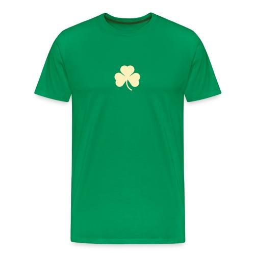 simple clover - ivory on green - Men's Premium T-Shirt