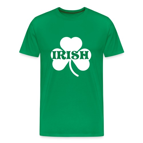 Irish Four Leaf Clover Green - Men's Premium T-Shirt