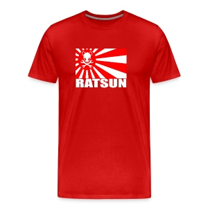 Large Ratsun Flag On Front - Men's Premium T-Shirt