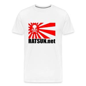 Large Ratsun Flag On Front - Men's Premium T-Shirt