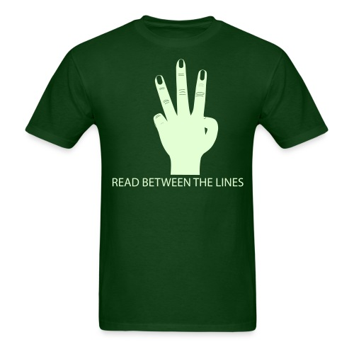 Glow-In-The-Dark Flip Off - Men's T-Shirt