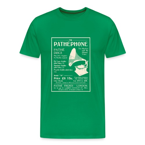 Pathephone Record Player (Various Clrs) - Men's Premium T-Shirt