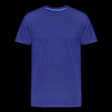 Royal blue plain blue shirt Men