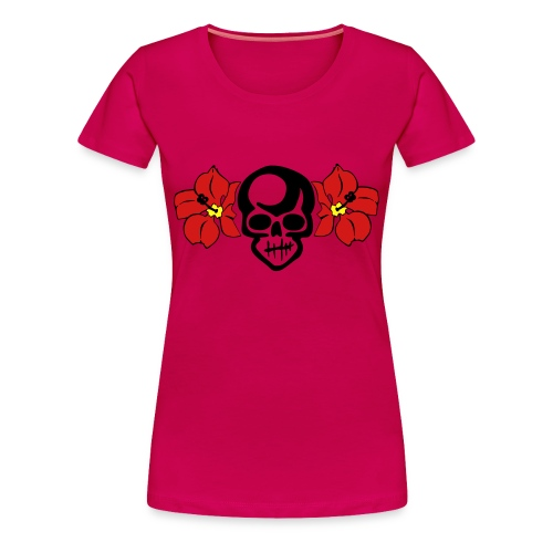 THE HULA SKULL by VAN TRIBE  - Women's Premium T-Shirt