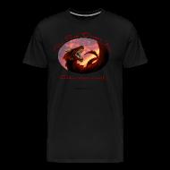 T-Shirts ~ Men's Premium T-Shirt ~ Red Dragon Inn 3XL Logo Tee