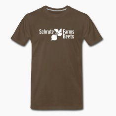 Chocolate Dwight Schrute Farms Beets T-Shirts