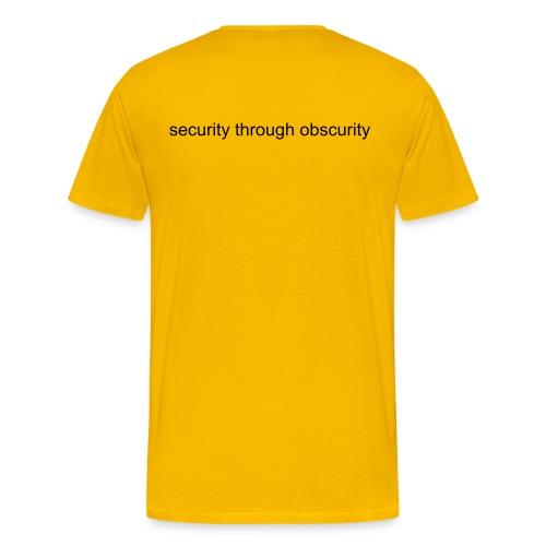 security through obscurity - Men's Premium T-Shirt