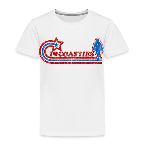 I Luv Coasties Vintage Toddler Tee - Toddler Premium T-Shirt