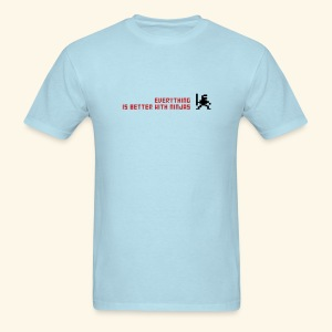 Everything is better with ninjas - Men's T-Shirt