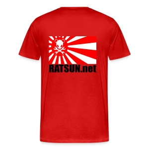 Lg. Blk Ratsun.net Flag on Back - Men's Premium T-Shirt