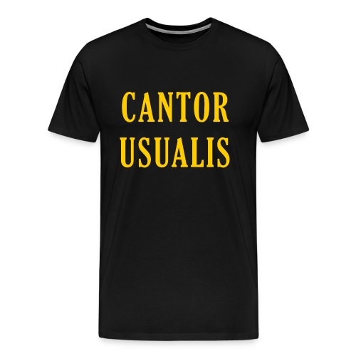 Cantor Usualis - Men's Premium T-Shirt