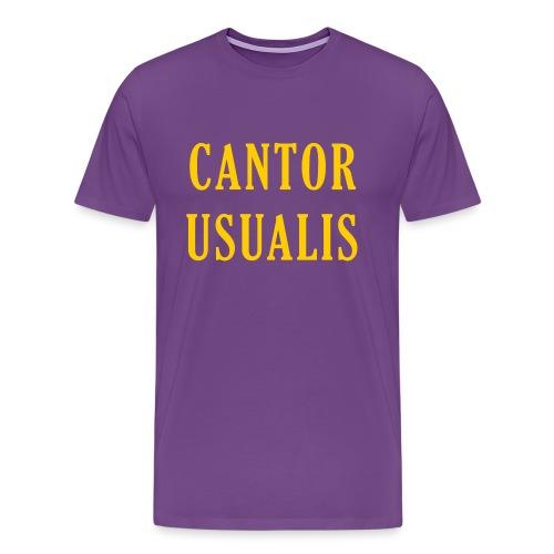 Cantor Usualis - Purple - Men's Premium T-Shirt