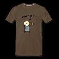 T-Shirts ~ Men's Premium T-Shirt ~ Kiwi Warning - Men's Heavyweight