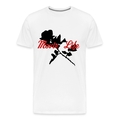 Whitte with Black Rose Men's Tee Heavy weight - Men's Premium T-Shirt