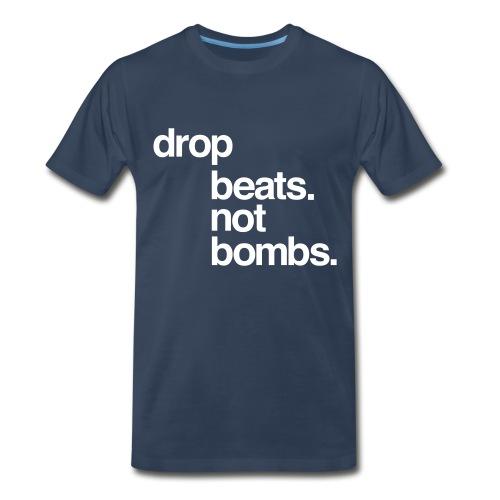 Beats not bombs navy/white - Men's Premium T-Shirt