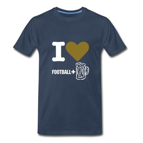 Foot Ball & Beer - Men's Premium T-Shirt
