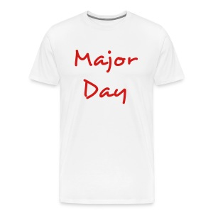 white and red major day tee - Men's Premium T-Shirt
