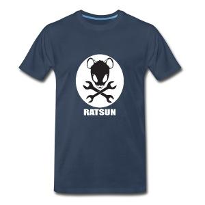 Large Ratsun Logo On Front - Men's Premium T-Shirt