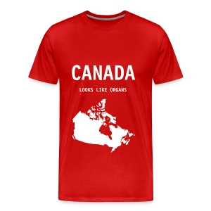 Canada Looks Like Organs - Men's Premium T-Shirt