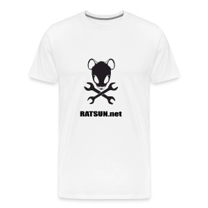 Lg Blk Text Ratsun.net Logo On Front - Men's Premium T-Shirt