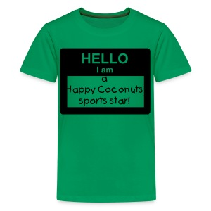 Hello, I Am A Happy Coconuts Sports Star - green - Kids' Premium T-Shirt