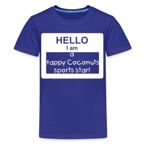 Hello, I Am A Happy Coconuts Sports Star - blue - Kids' Premium T-Shirt