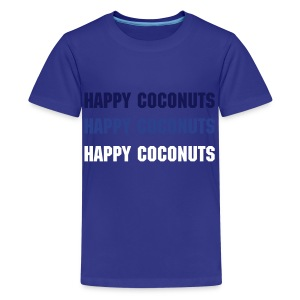 Happy Coconuts 3 print - blue  - Kids' Premium T-Shirt