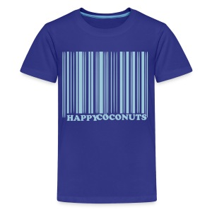 Barcode tshirt - royal blue - Kids' Premium T-Shirt
