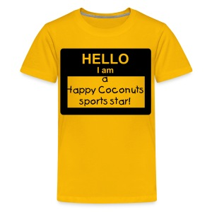 Hello, I Am A Happy Coconuts Sports Star - yellow - Kids' Premium T-Shirt