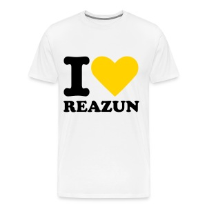 I Love Reazun Men's T! - Men's Premium T-Shirt