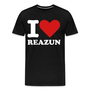 I Love Reazun T! - Mens Black - Men's Premium T-Shirt