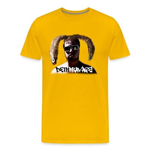 Deth Ravage (Yellow) - Men's Premium T-Shirt