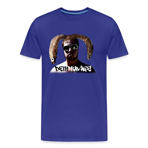 Deth Ravage (Blue) - Men's Premium T-Shirt