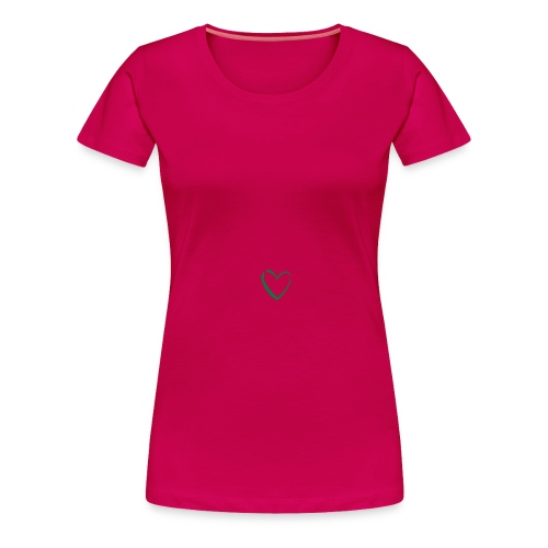 Women's Fuschia Heart Logo Plus Size Tee - Women's Premium T-Shirt