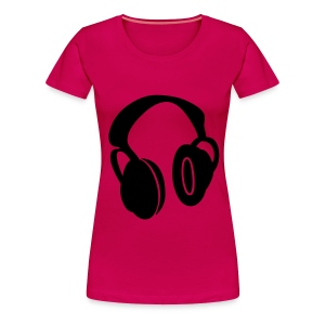 BEBOP womens DJ headphone t-shirt - Women's Premium T-Shirt
