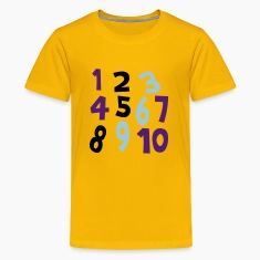 Yellow Numbers 1 - 10 Without Background Kids & Baby