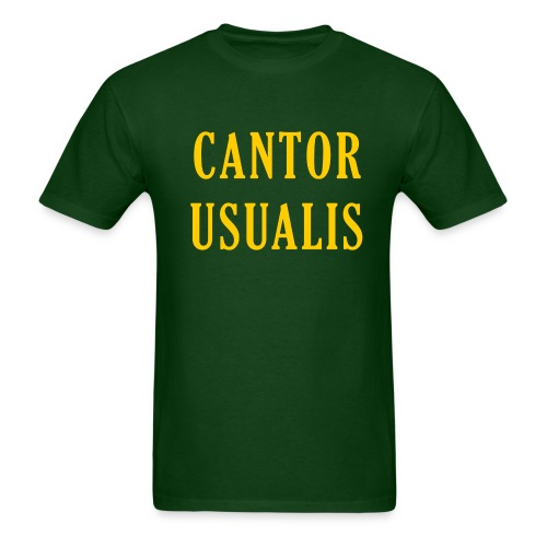 Cantor Usualis - Green - Men's T-Shirt