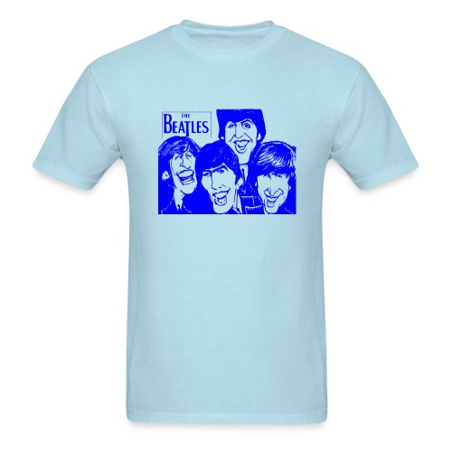 The Beatles -BLU/BLU - Men's T-Shirt