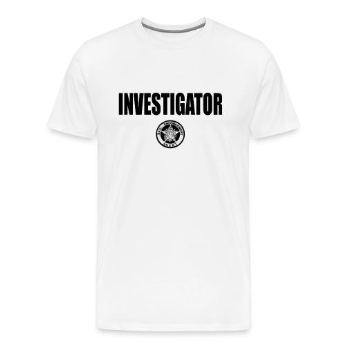 Men's Premium T-Shirt - bail, enforcement, officer, bounty, hunter, hunters, fugitive, recovery, agent