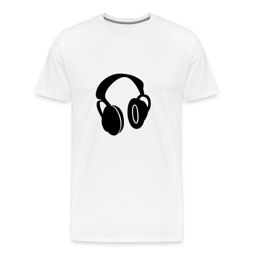 headphones tee - Men's Premium T-Shirt