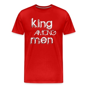 King Among Men; Black inline design - Men's Premium T-Shirt