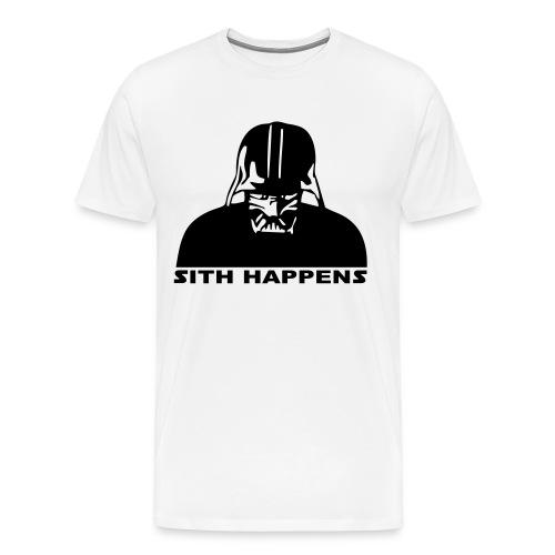 Sith Happens (withe) - Men's Premium T-Shirt