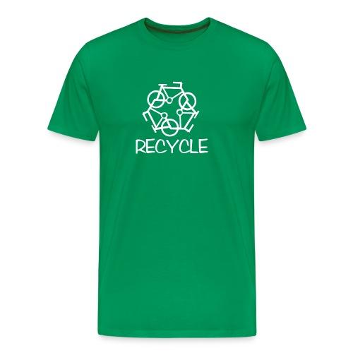 reCYCLE - white/green - Men's Premium T-Shirt