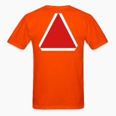 Orange slow moving vehicle sign T-Shirts (Short sleeve)