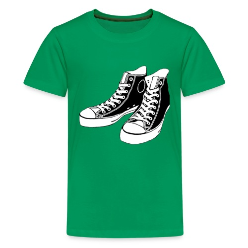 Green kid's tshirt with converse - Kids' Premium T-Shirt