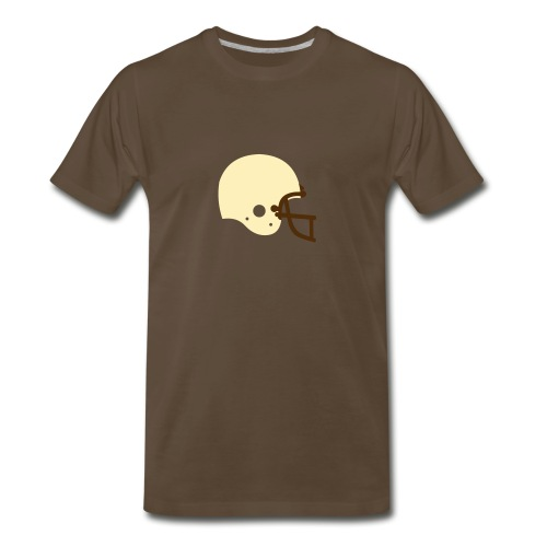 T-SHIRT Football Helmet chocolate - Men's Premium T-Shirt