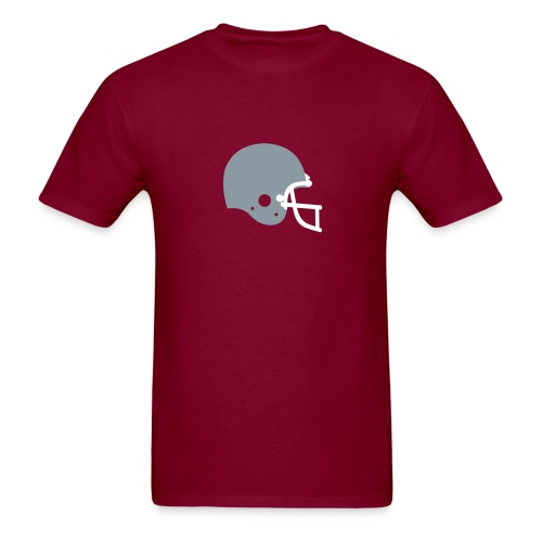 T-SHIRT Football Helmet burgundy - Men's T-Shirt