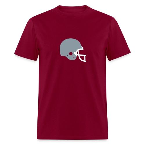 T-SHIRT Football Helmet burgundy - Men's T-Shirt